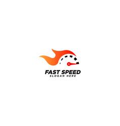 Automotive logo fast speed speed logo design vector