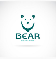 bear head design and letters on white vector image