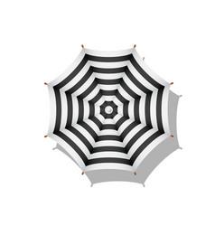 Black and white striped beach umbrella vector