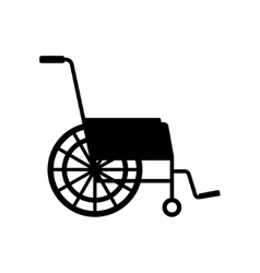 Black wheelchair icon vector