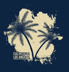 california los angeles typography t-shirt vector image