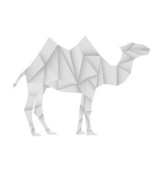camel white paper polygonal vector image