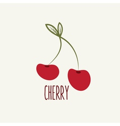 cherry design template vector image