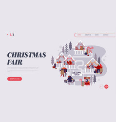 christmas market internet advertisement landing vector image