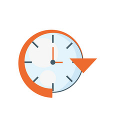 clock time delivery strategy vector image vector image
