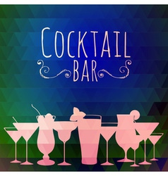 Cocktail triangle background vector image