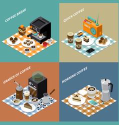 Coffee isometric design concept vector