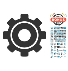Cog Icon With 2017 Year Bonus Pictograms vector