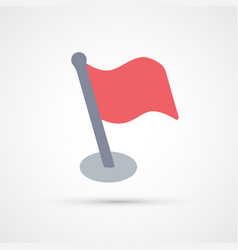 colored red flag trendy symbol vector image