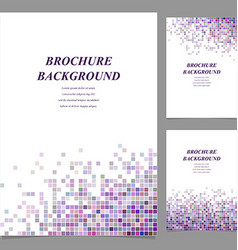 Colorful abstract tile mosaic brochure template vector image