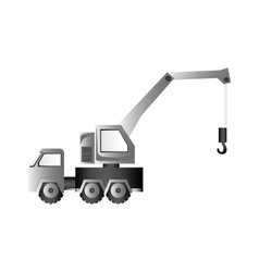 Crane truck icon image vector