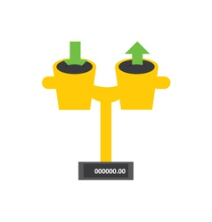 Download and upload weight vector