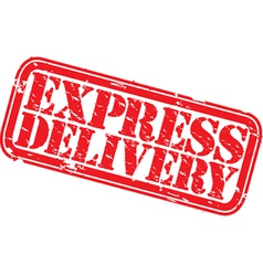 Express delivery stamp vector image