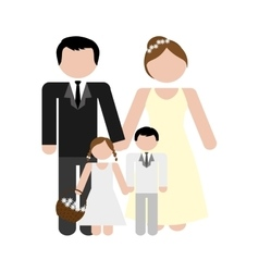 family concept avatar icon colofull flat and vector image