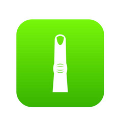 finger icon digital green vector image