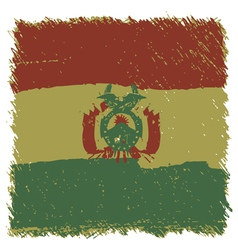 Flag of Bolivia handmade square shape vector