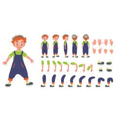 Flat conceptual of redhead kid vector