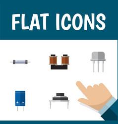 flat icon electronics set of destination resist vector image