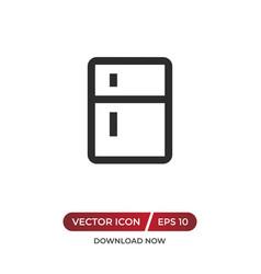 Fridge icon vector