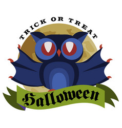 funny cartoon logo halloween flat poster vector image