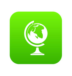 globe icon digital green vector image