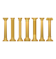 Gold antique columns vector