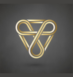gold logo design sign for business company vector image