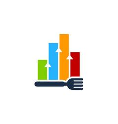 graph food logo icon design vector image