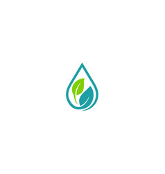 green leaf oil extract organic logo vector image