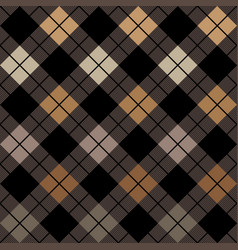 halloween black and beige argyle harlequin pattern vector image