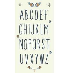 Hand drawn sketch alphabet Handwritten font vector image