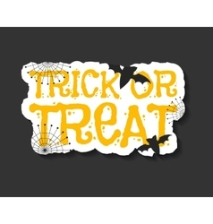 Happy Halloween trick and treat flyer template - vector image