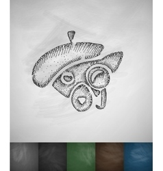 hipster animal icon Hand drawn vector image
