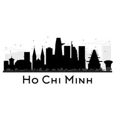 Ho Chi Minh City skyline silhouette vector