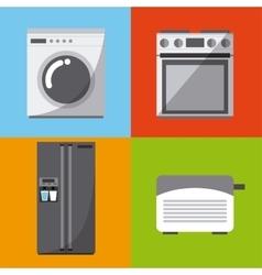 Home appliances devices vector