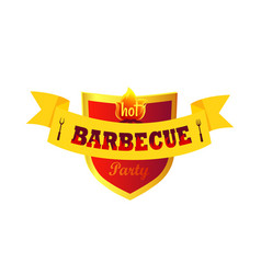 hot barbecue party closeup vector image