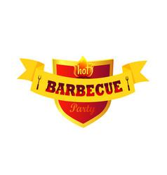 Hot barbecue party closeup vector