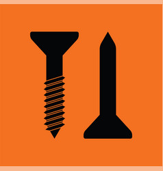 icon of screw and nail vector image