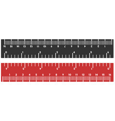 Inch and centimeter ruler vector