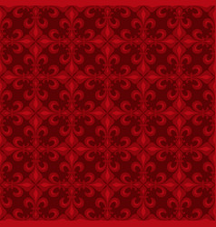 lace-de-luce lace of lilies red seamless pattern vector image