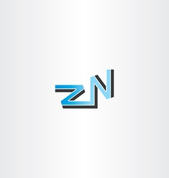 letter z and n logo blue vector image
