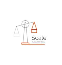 Line minimal design logo scale vector