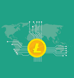 litecoin cryptocurrency brand icon option with vector image