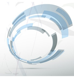 Modern blue round abstract design element vector
