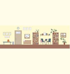 Modern school interior vector