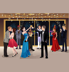 New year eve party indoor vector