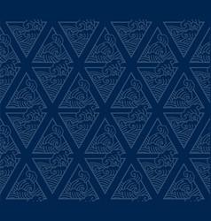 oriental japan wave line art seamless background vector image