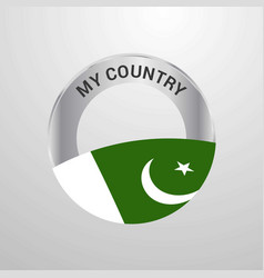Pakistan my country flag badge vector