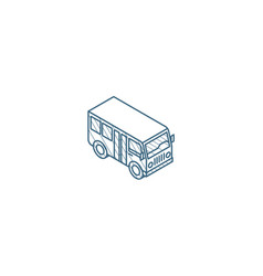 passenger bus isometric icon 3d line art vector image