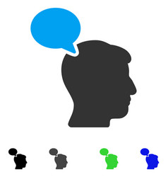 Person opinion flat icon vector